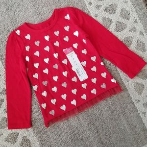 Okie Dokie Heart Long Sleeve Shirt 2T NEW